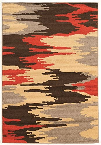 Linon Claremont Collection Larva Terra Synthetic Rugs, 8 x10 2 , Brown