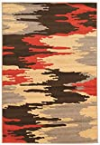 Linon Claremont Collection Larva Terra Synthetic Rugs, 8'x10'2, Brown