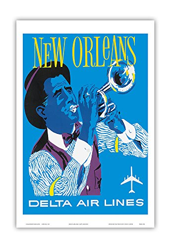 new-orleans-delta-air-lines-jazz-trumpet-player-vintage-airline-travel-poster-c1960-master-art-print