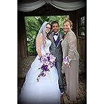 Cascade-Bouquet-Purple-Lavender-White-Artificial-Flower-Arrangement