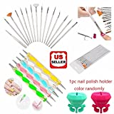 Amazon Price History for:Glam Hobby 20pc Nail Art Manicure Pedicure Beauty Painting Polish Brush and Dotting Pen Tool Set for Natural, False, Acrylic and Gel Nails