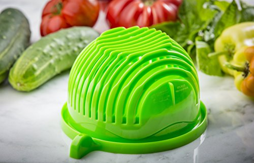 The ORIGINAL 60 Second Salad Maker - Thick, Durable, BPA Free Material - Dishwasher Safe - Top Quality Finish - Funded on Kickstarter! by 60 Second Salad