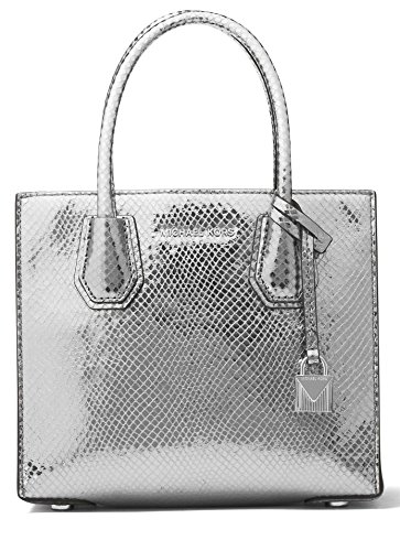 - MICHAEL Michael Kors Mercer Mini Shimmer Messenger Bag, Light Pewter