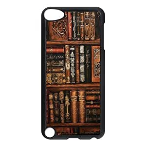 Vintage Bookshelf Durable Hard Shell iPod Touch 5 Case by lolosakes
