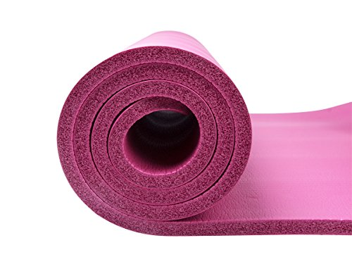 QUBABOBO Esterilla de Yoga 10 mm de Espesor Antideslizante y Durable Esterilla de Gimnasia, Esterilla para Fitness con Correa/Bolsa de Yoga 183cm x ...