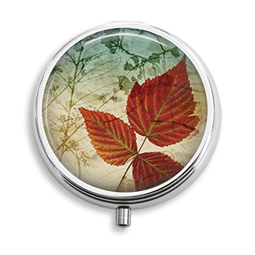 Autumn Leaves Pill Box Pill Holder Pill Case Medicine Holder Decorative Box Mint Tin Vitamin Holder Small Craft Container Handmade Gifts For Her (Mint Tin Autumn)
