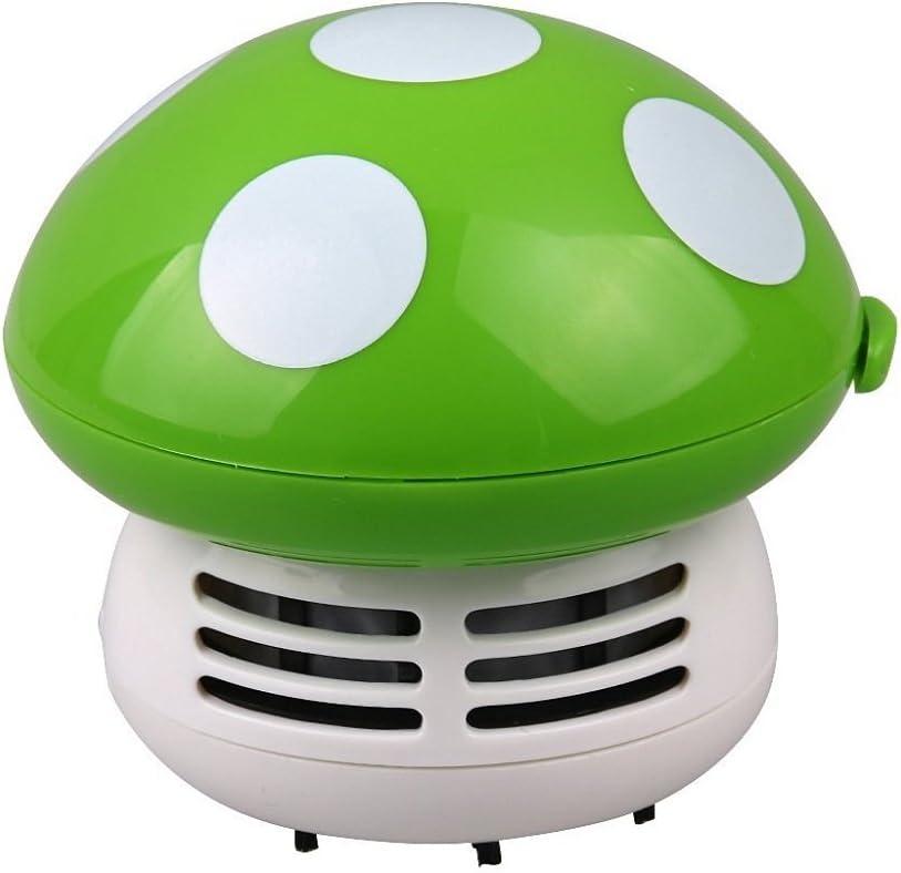 Mini Aspiradoras Aspiración de Polvo Mesa Escritorio Forma de Setas Esquina Limpio Barredora Linda - Verde: Amazon.es: Hogar
