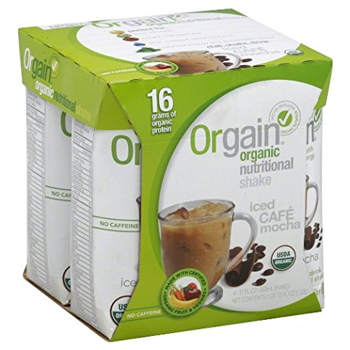 Orgain Organic Nutrition Shake - Mocha - 11 fl oz - - 3 x 4-Packs (12 Units total)