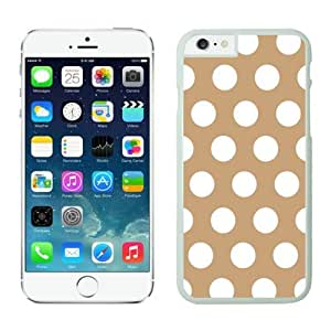 White Iphone 6 Case 4.7 Inches, Polka Brown and White Dot Silicone Soft Phone Case Cover for Iphone 6 Speck Design