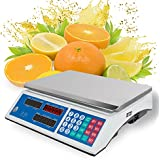 zinnor Electronic Price Computing Scale, 60LB Price Computing Food Meat Vegetables Scale, Rechargeable Battery
