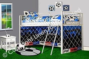 Etagenbett Aus Metall Zu Verschenken : Kinder fußballtor soccer metall silber etagenbett hochbett