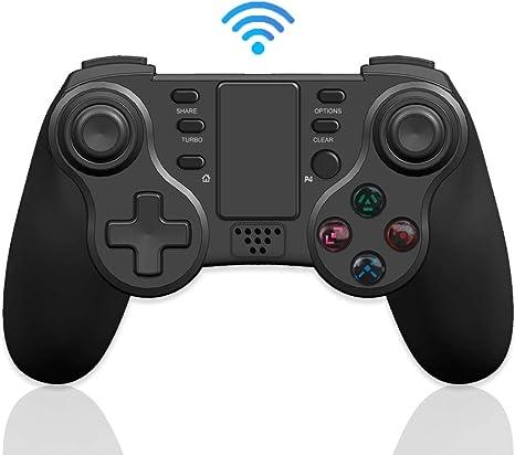 Mando PS4 Inalámbrico, Maegoo Bluetooth Game Mando Gamepad Joystick para Playstation 4 con Dual Shock/ 6-Axis Gyro Sensor/ Touch Panel/ Auricular Jack, Compatible con PS4/PS4 Slim/PS4 Pro: Amazon.es: Videojuegos