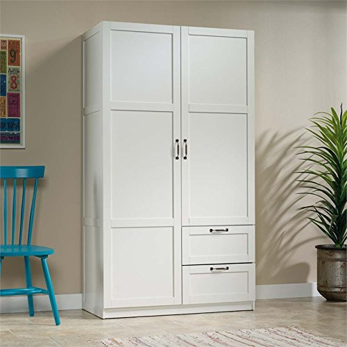 Sauder Storage Cabinet, L: 40.00' x W: 19.45' x H: 71.10', White finish