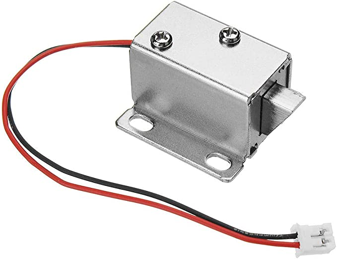 12V DC 0.43A Cabinet Drawer Electric Door Lock Assembly Solenoid Lock 27x29x18mm