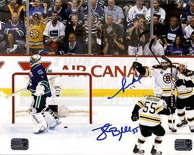 Johnny Boychuk Gregory Campbell Boston Bruins Signed Stanley Cup 8x10 Bergeron