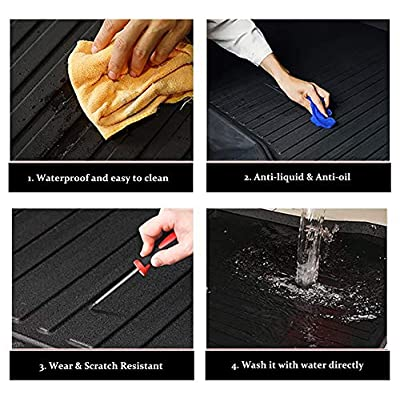 WeDoi All-Weather Frunk Mat Customized for Tesla Mode 3, Non-Skid Black Rubber Front Trunk Mat, Sturdy Heavy-Duty Cargo Liner Cargo Mat, TPO Cargo Storage Mat for Model 3 2020-2020: Automotive