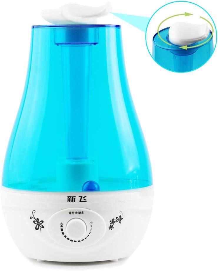 Silent Ultrasonic Cool Mist Humidifier Water Tank 3L Capacity LED nightlights Baby Humidifier Refills Ultrasonic Tank Water Humidifier With Humidistat