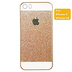 Anyphone- for Apple iPhone Shiny Sparkling PC Hard Case Cover Protector (Gold/iPhone 5)