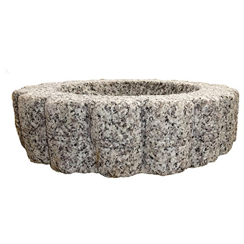 The Crabby Nook Granite Bird Bath Garden Outdoor Decor Hand Carved Stone Statuary Birdbath (White Gray) by The Crabby Nook (Image #1)