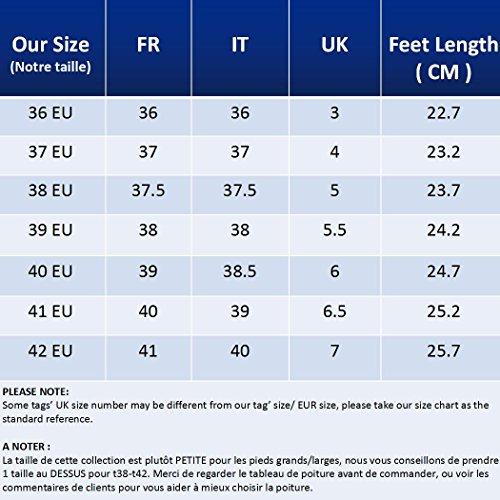Cuneo Scarpe Guida Zeppa Sneaker con da Scarpe Loafers Piattaforma Casual Donna Zeppa Scamosciato comode Mocassini Comodo Pelle Gracosy Rosa Tacco in con Nascosto Moda RA44B8