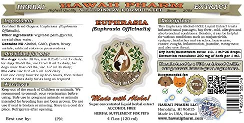 Euphrasia, VETERINARY Natural Alcohol-FREE Liquid Extract, Pet Herbal Supplement