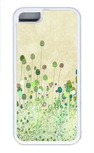 iPhone 5c case, Cute Poppy Buds Vintage Art iPhone 5c Cover, iPhone 5c Cases, Soft Whtie iPhone 5c Covers by runtopwell