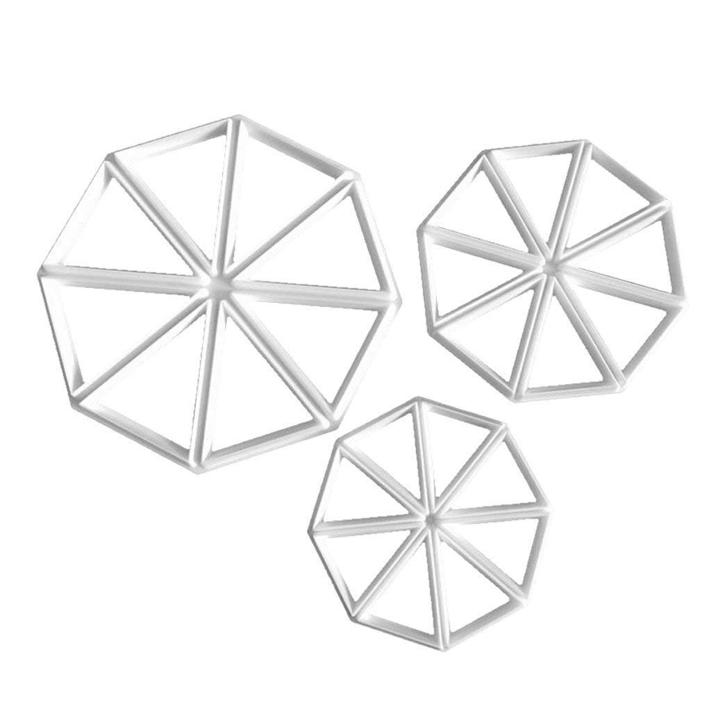 Potelin Triangle Cake Cutting Mold Fondant Mold Cookie Mold Triangle Mold Plastic Cake Mold Suitable for chocolate and cake and so on 3pcs