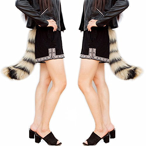 Party Prop,Leegor Dancing Simulation Wacky Animal Long Fox Tail Dress -
