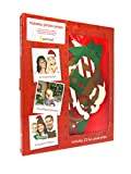 Pearhead Holiday Photo Props, Great for Holiday Parties, Red/Green