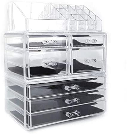 Makeup Organizer Acrylic Display Showcase Stand Countertop Display Counter Bin