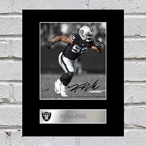 iconic pics Khalil Mack Signed Mounted Photo Display Oakland Raiders