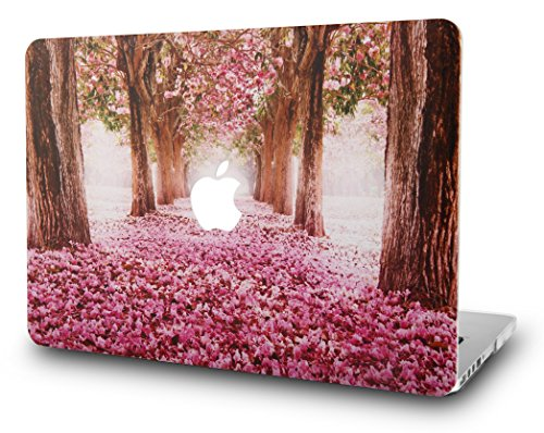 KEC MacBook Pro 13 Case 2017 & 2016 Plastic Hard Shell Cover A1706 / A1708 with/without Touch Bar (Cherry Blossoms)