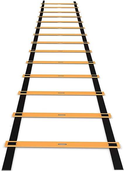 Escalera de entrenamiento de 8 m, 16 peldaños, escalera de agilidad, escalera de coordinación, escalera de entrenamiento para boxeo de entrenamiento de alta intensidad, fútbol, Lacrosse, etc.: Amazon.es: Deportes y aire libre