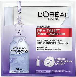Mascarilla en tela hidratación intensa Revitalift Ácido Hialurónico de L'Oréal Paris, 1 pza
