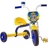 Triciclo Ultra Bike Top Boy Jr Velotrol Motoca Azul/Amarelo