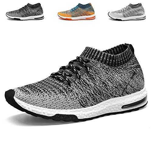 TUCSSON Mens Trainers Flyknit Air Sneakers Fitness Mesh Lightweight Sports  Running Shoes Gym Walking Trainers Shoes: Amazon.co.uk: Shoes & Bags