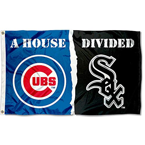 (WinCraft Chicago White Sox and Chicago Cubs House Divided Flag)