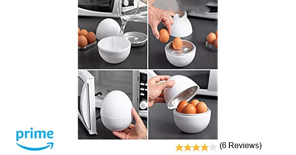 Cuece Huevos Microondas Cocina Incluye Recetario: Amazon.es: Hogar