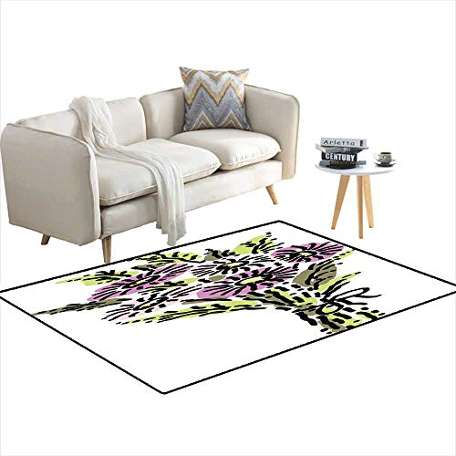 Extra Large Area Rug Bouquet of Asters 4