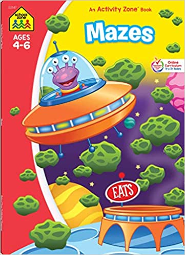 Amazon.com: School Zone - Mazes Workbook - 64 Pages, Ages 4 ...