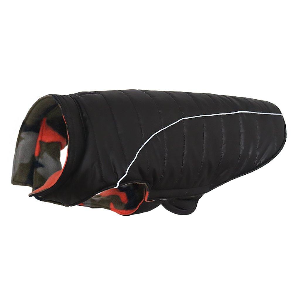 Black Large Black Large Waterproof Dog Coat Fall And Winter Clothes Pet Clothes Samoyed Husky Large Dog Coat,Black-L