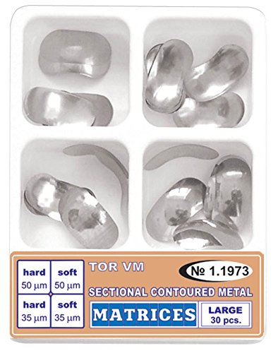 Dental Kit of Large Sectional Contoured Matrices Matrix of four types 30 pcs.TOR VM by ZubR