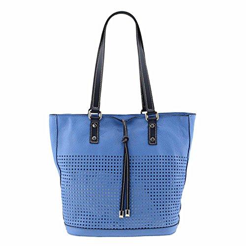 Paula Alonso Style Shopping Bag Skin Smooth Blue Die Cut
