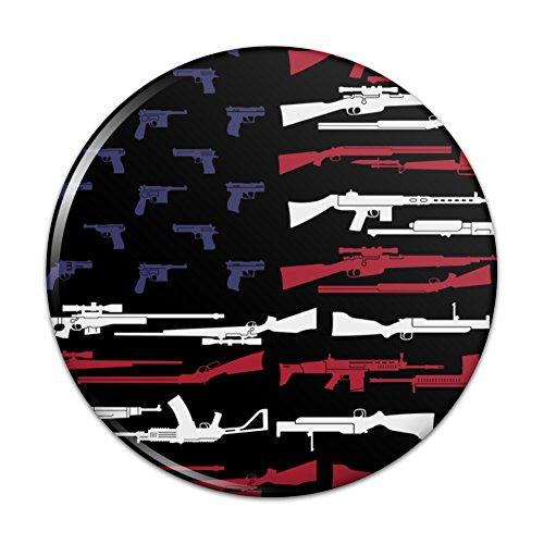 American Gun Flag USA Second 2nd Amendment Pinback Button Pin - 1