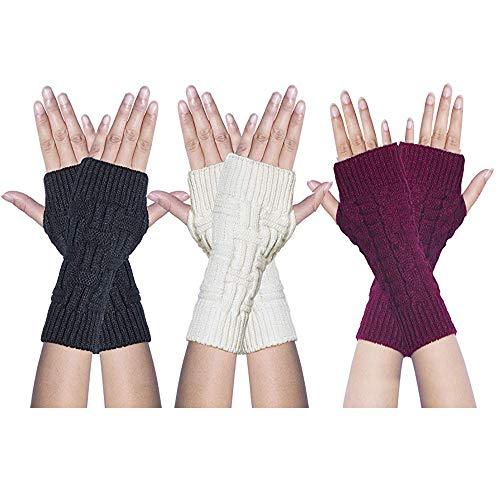 JUMINE 3 Pairs Winter Knit...