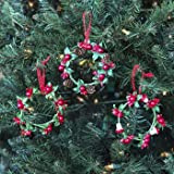 DollarItemDirect WREATH ORNAMENT/CANDLE RING PACKAGE DECOR 4IN DIA 3AST, Case Pack of 48