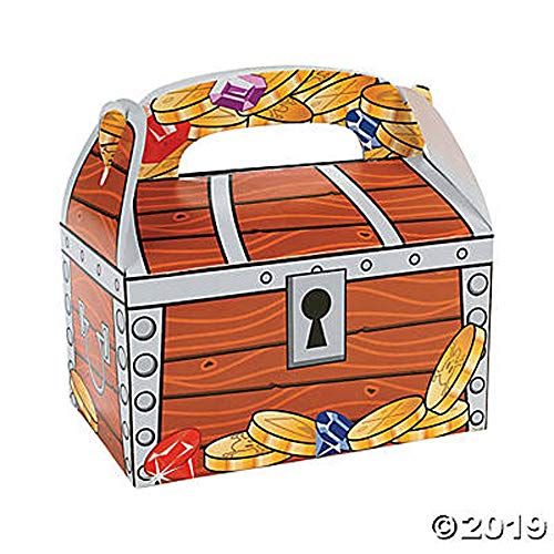 Fun Express Treasure Chest Treat Boxes (1 Dozen), Bulk ()