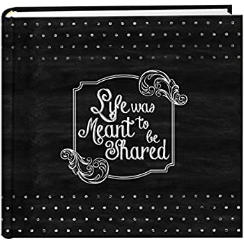 "Pioneer Photo Albums EV-246CHLK/SH  200-Pocket Chalkboard Printed ""Shared"" Theme Photo Album for 4 by 6-Inch Prints"