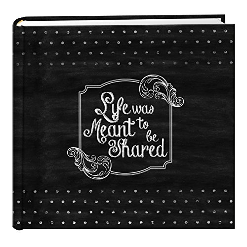 Pioneer Photo Albums EV-246CHLK/SH 200-Pocket Chalkboard Printed Shared Theme Photo Album for 4 by 6-Inch Prints