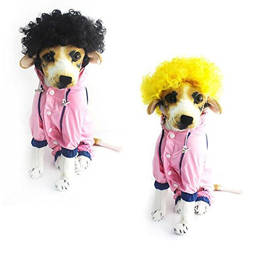 Meijunter Afro Wig Clown Circus Curly Halloween Pet Dog Cat Costume Accessory 2 COLORS ?Black?